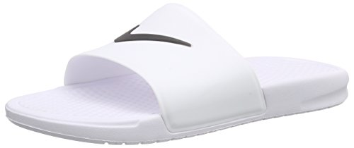 Nike Benassi Shower Slide, Scarpe da Spiaggia e Piscina Uomo Bianco / Nero (Bianco / Nero)