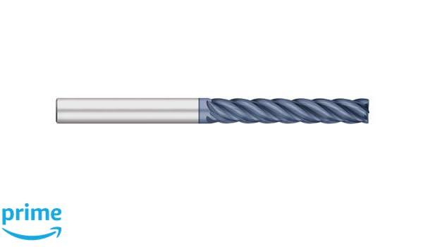 1-1//2 Length of Cut 5 Flute ALCRO-Max Coated Corner Radius 1//4 Shank Diameter Titan TC27928 Solid Carbide End Mill Extra Long Length 0.015 Corner Radius 4 Overall Length