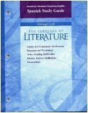 Read Online Access for Students Acquiring English Spanish Study Guide, Grade Ten, McDougal Littell the Language of Literature (Family and Community Involvement; Summary and vocabulary; active reading skillbuilder, literary analysis skillbuilder, answer keys) pdf
