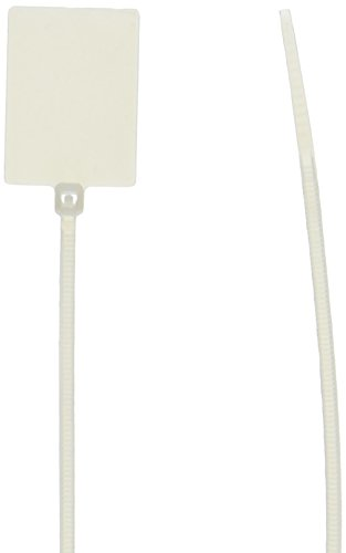 Morris 20361 Marker Nylon Cable Tie with 18-Pound Tensile Strength, 5-1/8-Inch Length, White, 100-Pack