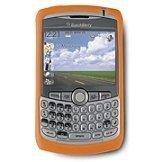 Blackberry 8300 Curve Rubberized Skin Case (Orange) HDW-13840-002 ()