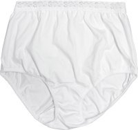 OPTIONS Ladies' Basic with Built-In Barrier/Support, White, Dual Stoma, Medium 6-7, Hips 37'' - 41'' Part No. 80204MD Qty 1