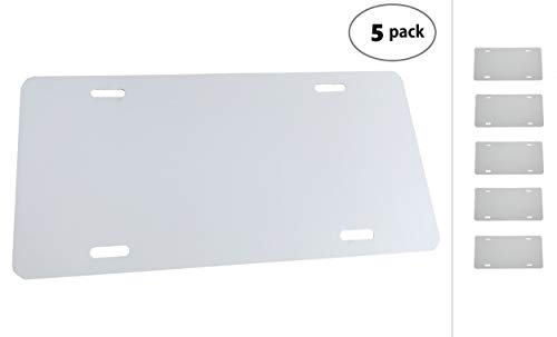 Partsapiens Corp. (5 Pack-$4.49/Each) Anodized Aluminum License Plate Blanks Gauge .020 (0.5mm) - 12x6 ()