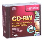 Imation IMN41424 CD-RW, 10x, (5-Pack) by Imation
