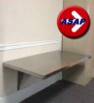 ADA Stainless Steel Wall Mounted Locker Room Bench - 42