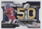 Terrell Davis (Football Card) 2015 Topps Chrome - Super Bowl 50 Die-Cuts #SBDC-TDA