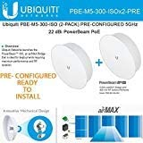 2Pack Ubiquiti PBE-M5-300-ISO PRE-CONF 5GHz PowerBeam 300mm Isolated Reflector