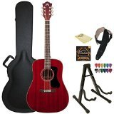 Guild D-120 CHR Cherry Acoustic Dreadnought All Mahogany Gui
