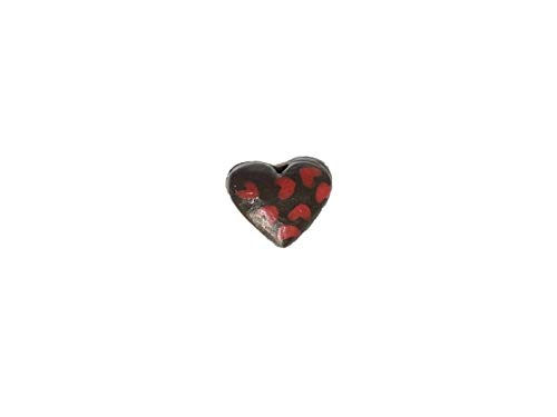 - Hand Painted Chocolate Heart Ceramic Beads for Earrings or Bracelets