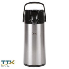 TableTop King 2.2 Liter Glass Lined Stainless Steel Airpot with Lever by TableTop King
