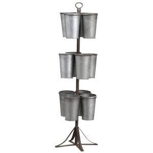 Galvanized Metal Floral Display Rack by Retail Resource