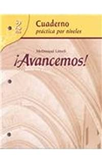Amazon avancemos cuaderno para hispanohablantes student avancemos cuaderno practica por niveles student workbook with review bookmarks fandeluxe Images