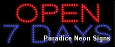 Open 7 Days LED Sign 11 x 27 (Open 7 Days Led)