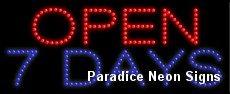 Open 7 Days LED Sign 11 x 27 (Open 7 Days Led)