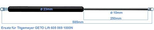 Ersatz f/ür Titgemeyer GETO Lift 605 069 1000N