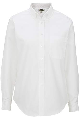 Edwards Ladies' Long Sleeve Oxford Shirt Medium White