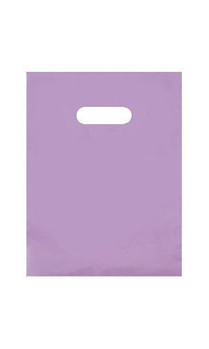 Small Lavender Frosted Plastic Merchandise Bag. • 9