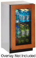 "ULINE 18"" Glass Door Refrigerator, left hinge, overlay"