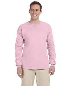 Gildan Adult L/S T-Shirt in Light Pink - - Fashion Large