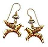 Soaring Equus Gold Legends Earrings by Laurel Burch