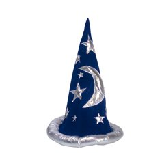 Mickey Mouse Wizard Hat (Adult Wizard Hat- Blue and Silver)