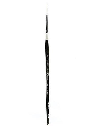 Script Liner Size 1 by Silver Brush Limited Silver Brush 3007S-1 Black Velvet Short Handle Blend Squirrel and Risslon Brush