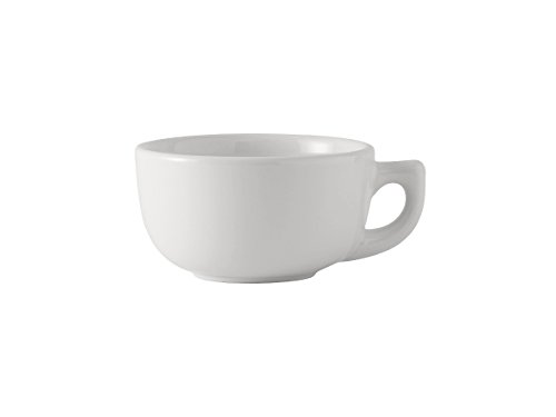 14 Ounce Cappuccino Cup - Tuxton BWF-1402 Vitrified China Cappuccino Cup, 14 oz, White (Pack of 24),