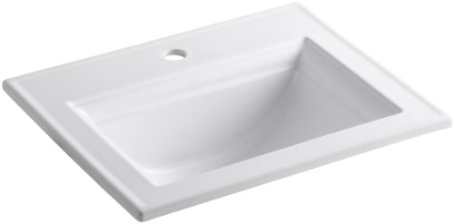KOHLER K-2337-1-0 Memoirs Stately Drop-In Bathroom Sink with Stately Design, White