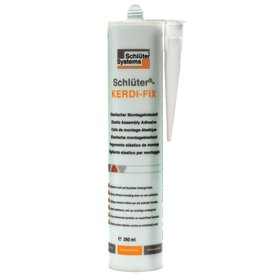 Schluter Systems KERDI FIX Sealing & Bonding Compound (100 ml/290 ml) (290 ml Cartridge White Colour)
