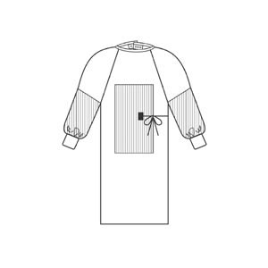 Kimberly-Clark Large Examination Gown - Fabric-Reinforced, Sterile - 90112 [PRICE is per EACH] (Gown Fabric Reinforced)