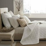 Hotel Collection Deco 400T Ivory Quilted Twin Coverlet