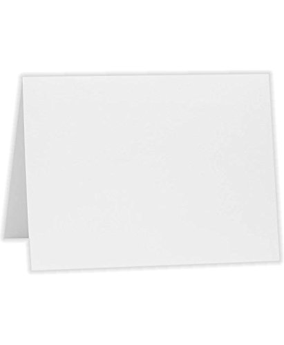 A7 Folded Notecards (5 1/8 x 7) - Savoy - Bright White (1000 Qty.) by Reich Paper
