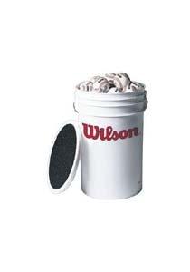 Wilson A1030 Practice Baseballs with Bucket (3 Dozen)