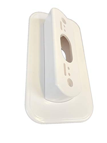 Nest Hello Wall Plate with 30 Degree Left/Right Angled Wedge Mount For Nest Door Bell, White