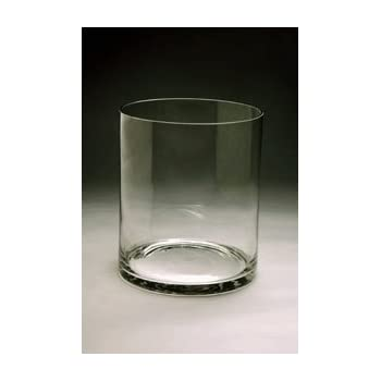 Amazon Clear Wide Short Cylinder Glass Vasecandle Holder Open