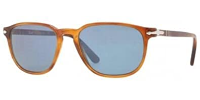 19d10a65d2 Amazon.com  Persol PO3019S Sunglasses Color 96 56 Light Havana Blue ...