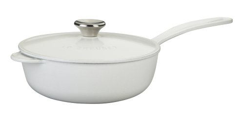 Le Creuset Enameled Cast-Iron 2-1/4-Quart Saucier Pan, White