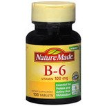 Nature Made Vitamin B-6 100 mg, 100 Tablets (Pack of 3)