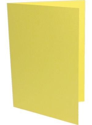 100 Doppelkarten quadratisch kanariengelb B003KW1VIA | Qualitätskönigin