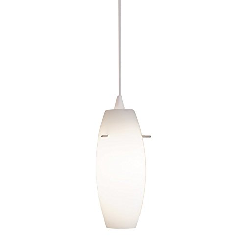 WAC Lighting LTK-F4-451WT/WT Bongo Line Voltage L Track Pendant with White Shade, White Socket and Track -