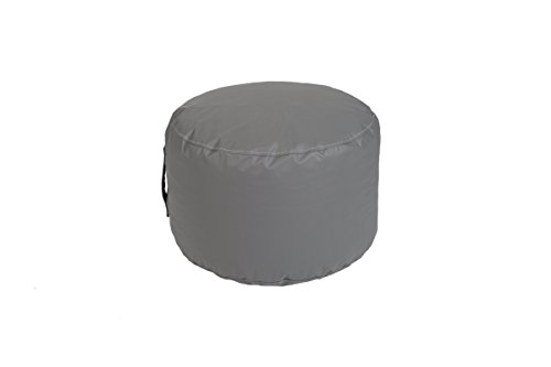 Hip Chik Chairs VCL03899-2094 Tech-Leather Bean Bag Round Ottoman, Kids, Grey (Ottoman Vinyl Round)
