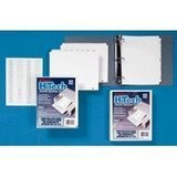 * 80000 Series Blank 1/5-Tab Divider Set, Unpunched, Letter, White, 25 S