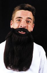 [Costume Facial Hair: Mustache and Beard-Brown (Sold by 1 pack of 5 items) PROD-ID : 570225] (Flame Hair Costume)