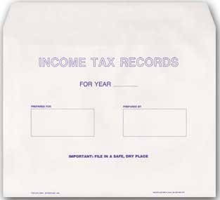 EGP Client Tax Record and Receipt Envelope