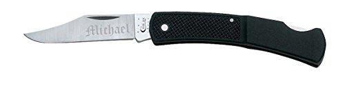 - Visol Personalized Case Black Case Caliber Synthetic - Lockback Knife - Free Engraving