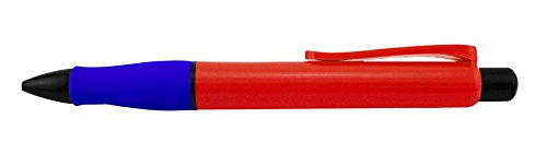 Dimension 9 the Original Super Jumbo Ballpoint Pen, Red with Blue Grip (SJPEN-RB)
