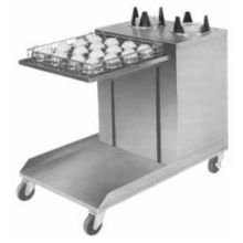 Mobile Cantilever Dispensers Lowerator (APW Wyott Lowerator Open Mobile Cantilever Cup and Saucer Dispenser, Up to 5 inch Saucer Size -- 1 each.)