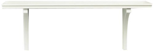 InPlace Shelving 0199848 46-Inch Wide Mission Bracketed Wall Shelf Kit, White