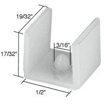 CRL Tub Enclosure Sliding Door Bottom Guide 1/2