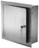 Acudor ARVB Recessed Stainless Steel Valve Box 12 x 12 x 6 with Plexiglass Vision Panel